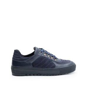 Pantofi sport barbati din piele naturala, Leofex - Mostra 096 Blue Box Velur