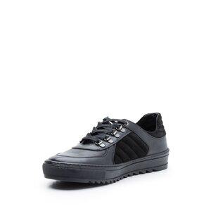 Pantofi sport barbati din piele naturala, Leofex - Mostra 096 Negru Box Velur