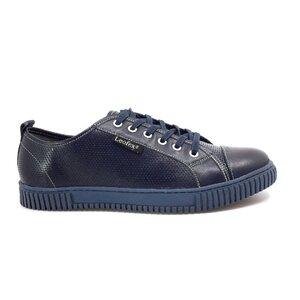 Pantofi sport barbati din piele naturala,Leofex -Mostra Remus Blue Box