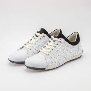 Pantofi sport barbati din piele naturala, Leofex - Mostra Sorin alb box