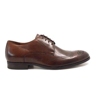 Pantofi eleganti barbati din piele naturala, Leofex - Mostra Petru cognac box