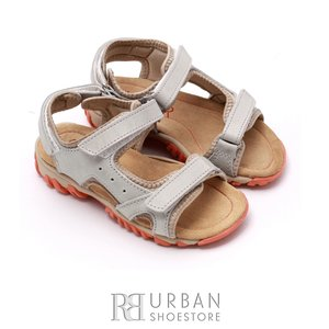Sandale copii din piele naturala, Leofex – 104 gri