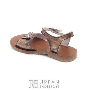 Sandale din piele naturala box, pentru copii – sarah auriu
