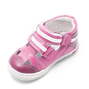 Sandale copii din piele naturala  – 120 roz BOX