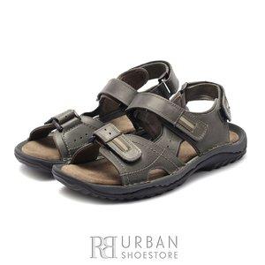Sandale barbati din piele naturala Leofex- 693 Gri